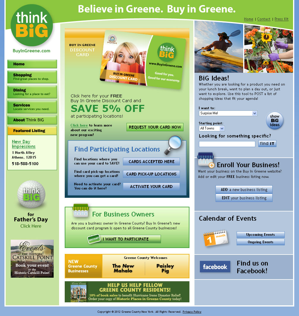 Buy Local Home Page from 2008-20012