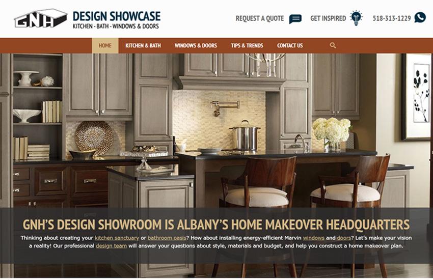 GNH Design Showcase web site (gnhinstalls.com).