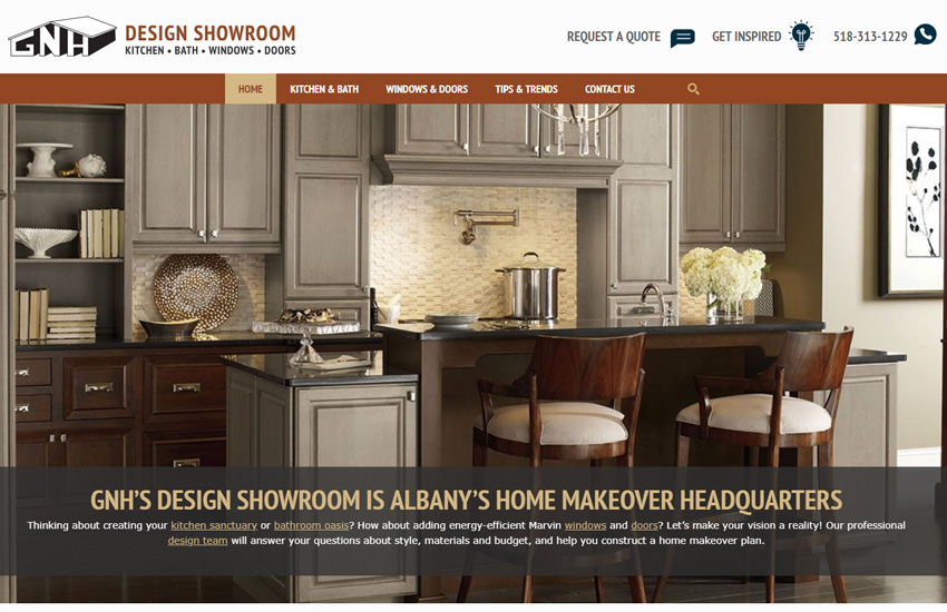 Image of the GNH Showroom Website