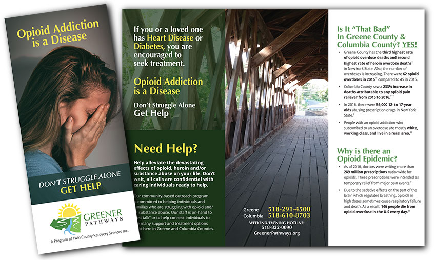 This trifold brochure is distributed throughout Greene and Columbia Counties.