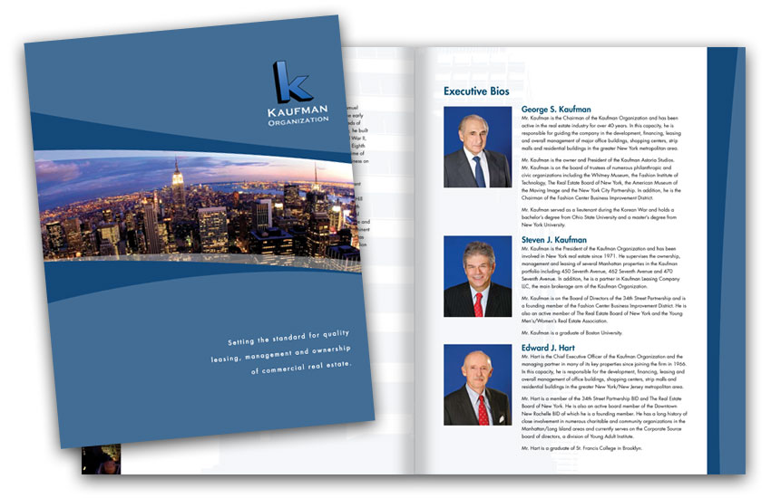 An 8-page brochure gives a complete overview of the company, its team and holdings.