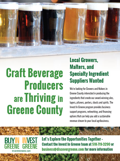 Image of a Ad targeting Craft Beverage Producers in Greene County