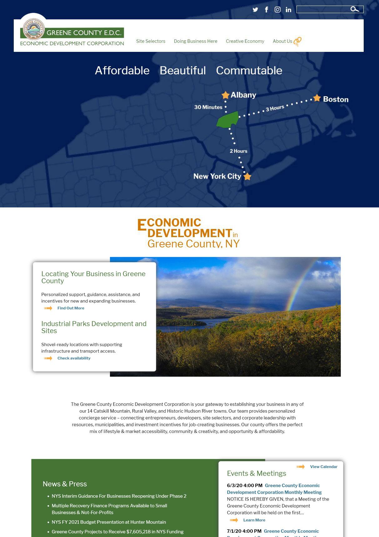 Greene County Economic Development Home Page