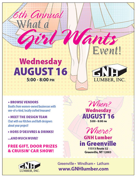 GNH - What a Girl Wants event flyer