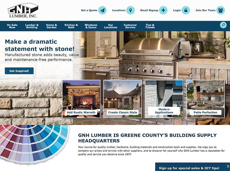 GNH Lumber's Website 2021