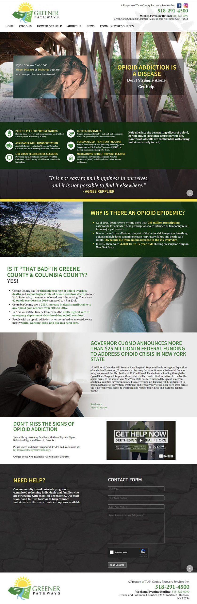 Greener Pathways Website Home