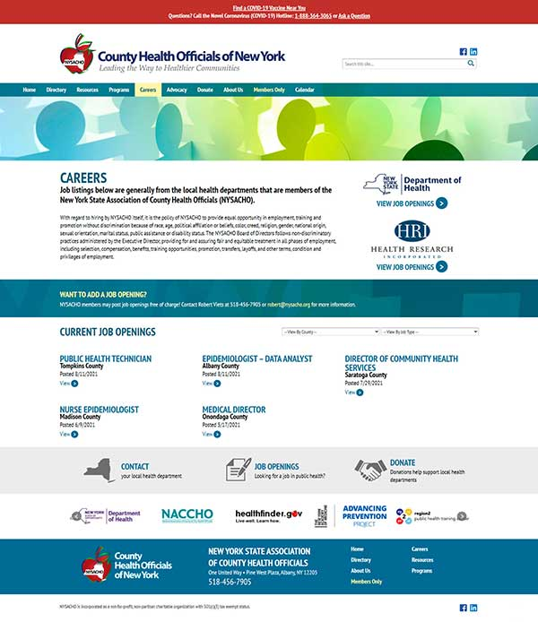 NYSACHO Careers Page