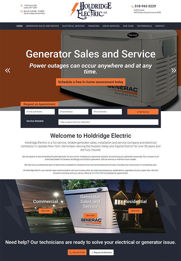 Holdridge Electric Website