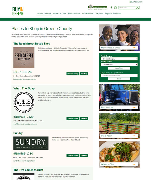 Buy Local directory page today