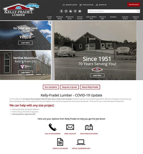 Kelly Fradet Website Home Page