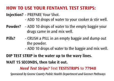 Fentanyl Test Strip Instructions Back